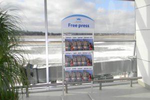 Рекламні стійки в аеропорті Львова